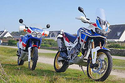 COMPARO HONDA AFRICA TWIN - XRV 650 RD03 de 1988 / CRF 1000L ADVENTURE SPORTS de 2018