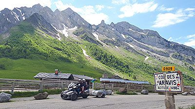 La route des Grandes Alpes sur Can-Am