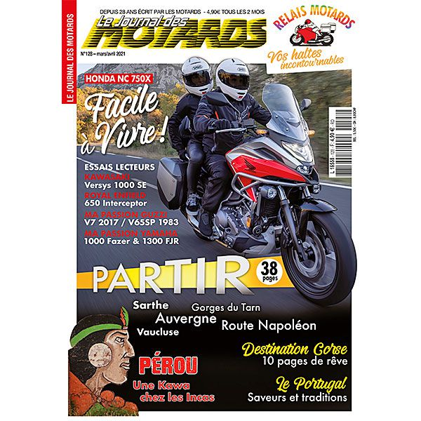 LE JOURNAL DES MOTARDS n°128 – mars/avril 2021